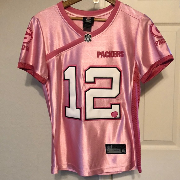 newest 792dc 68b42 NWT Aaron Rodgers Green Bay Packers Jersey *Pink* NWT